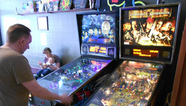 The pinballs at The Four Quarters