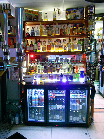 Plenty more drinks behind the bar