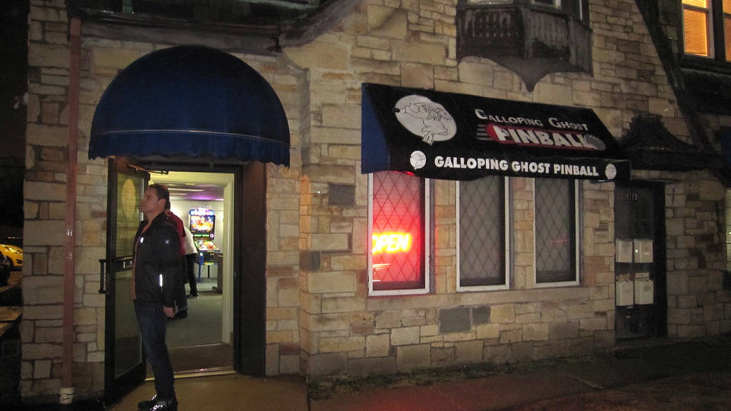 The Galloping Ghost Pinball arcade in Brookfield, Illinois