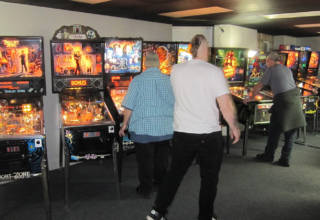 One of the two rooms of pinballs