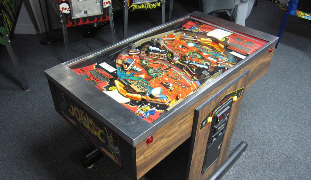 Joust - one of the most unusual pins I have ever seen