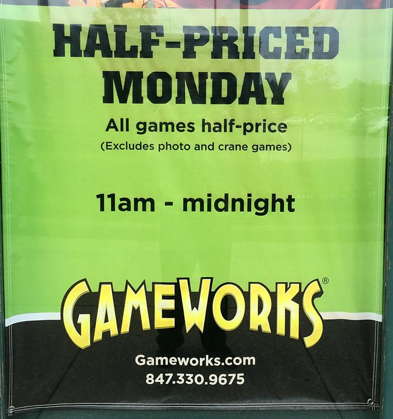 Hal-price Monday promotion