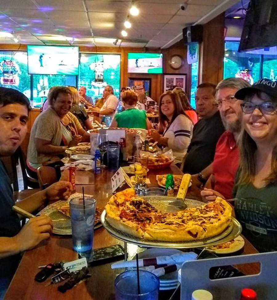 Pizza, drinks and good times