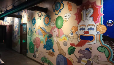 Some of the mural art at Jupiter