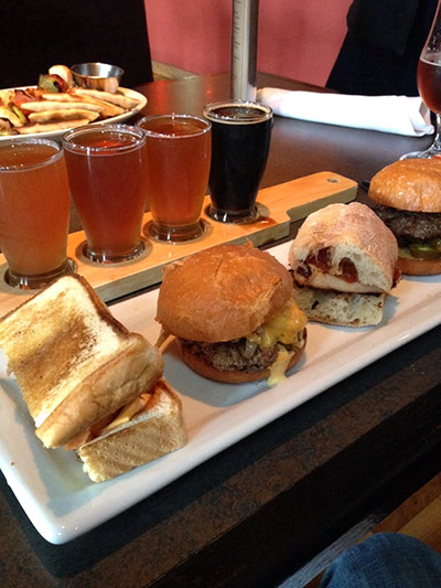 Beer flights and sliders