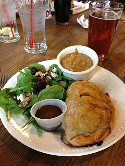 Cornish Pasties are served at the Old Dog