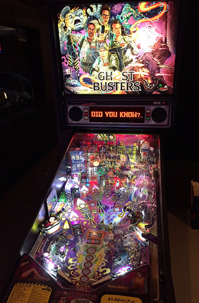 The Ghostbusters machine at C.J.'s