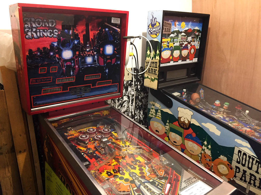 The two pinballs at Lucky Bob's