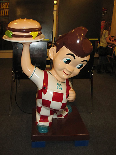 A full-size fiberglass Big Boy statue -- just looking at it makes me hungry for a signature double-decker cheeseburger