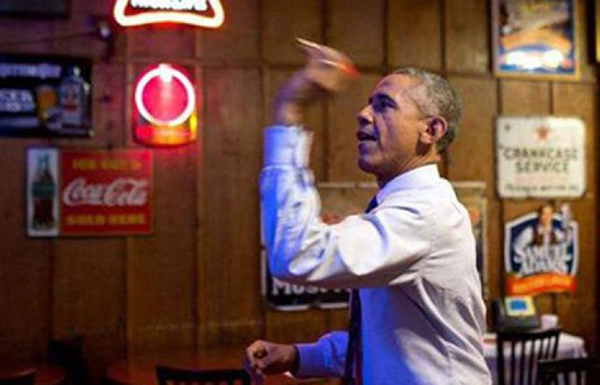 President Obama visited Manuel's on March 10th, 2015