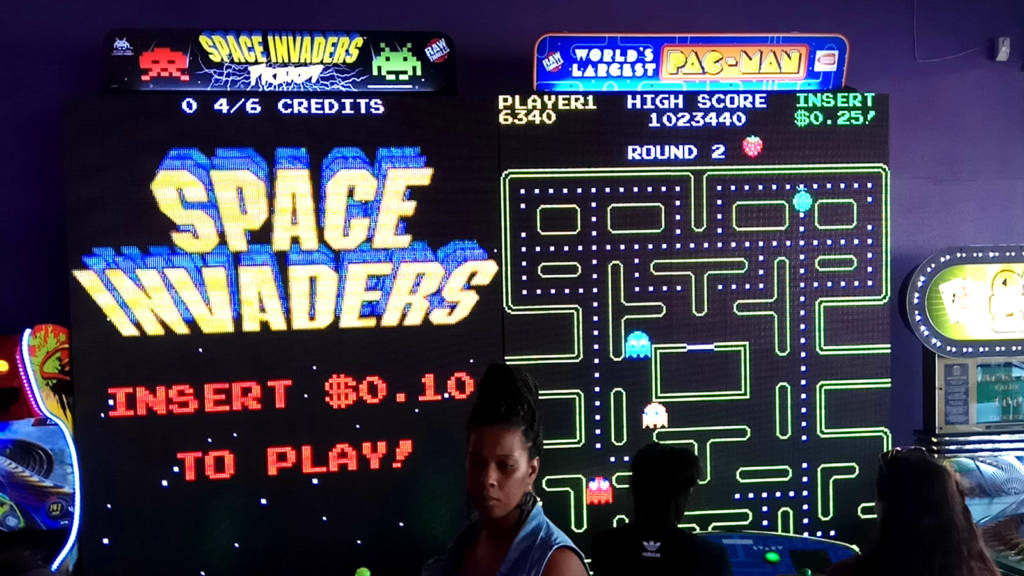 Giant Space Invaders and Pac-Man