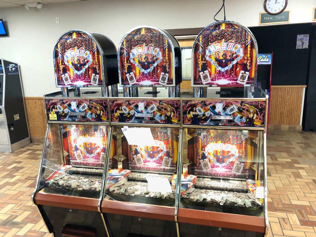 A six-player Jack's Hi Pusher by Coastal Amusements