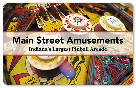 Main Street Amusements' postcard
