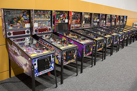 A line-up of new Stern Pinball games