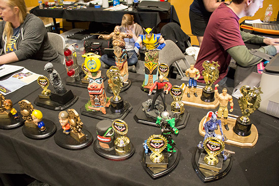 Trophies for the many tournaments