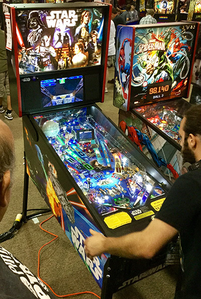 The world premiere of Stern's Star Wars pinball