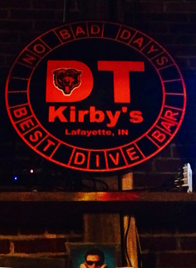 The sign at DT Kirby's