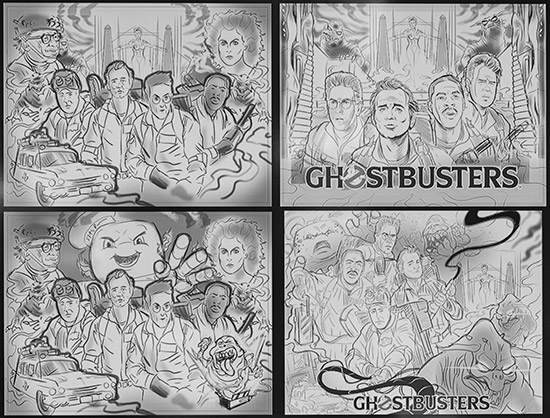 Early concept art for Ghostbusters