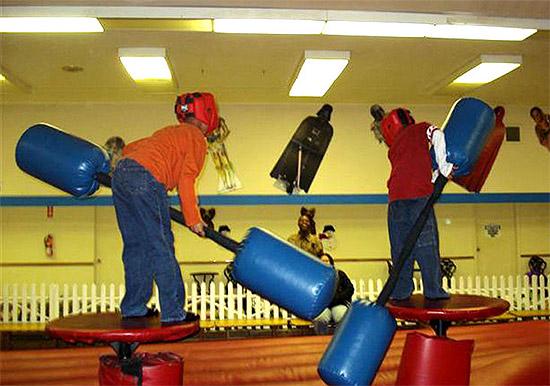 American Gladiator jousting at Mega Play