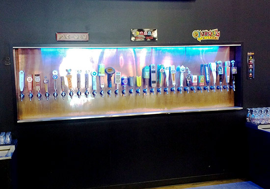 The thirty beer taps
