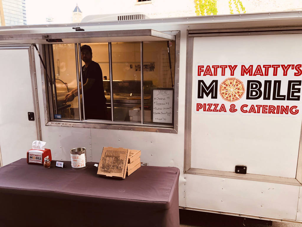 Fatty Matty's is one of the food trucks at Pins Mechanical