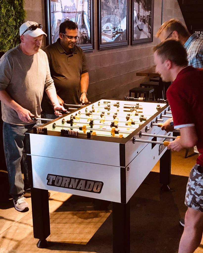 Foosball tables outside the Pinball Hall