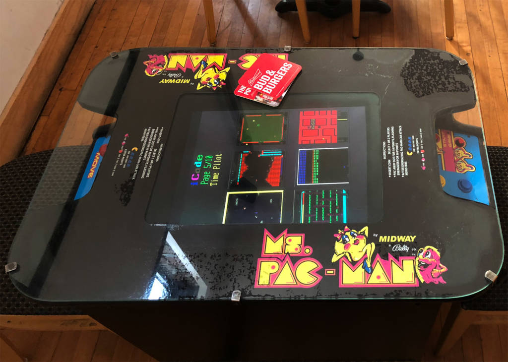 The iCade multi-game cocktail video