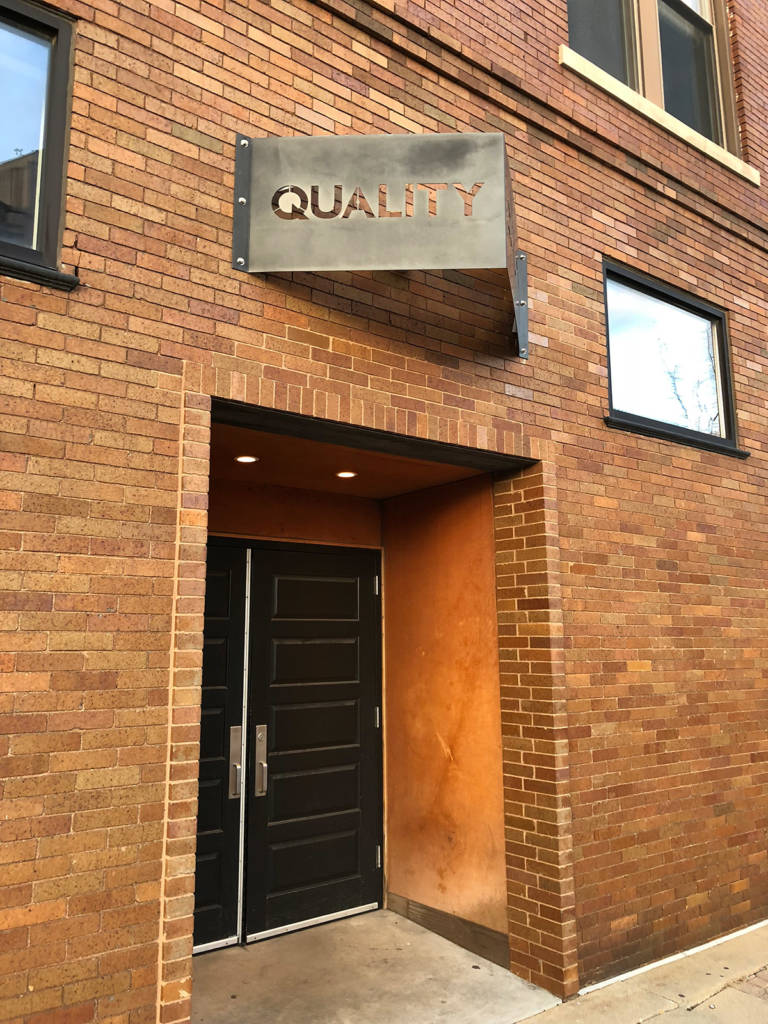 Quality's frontage and entrance