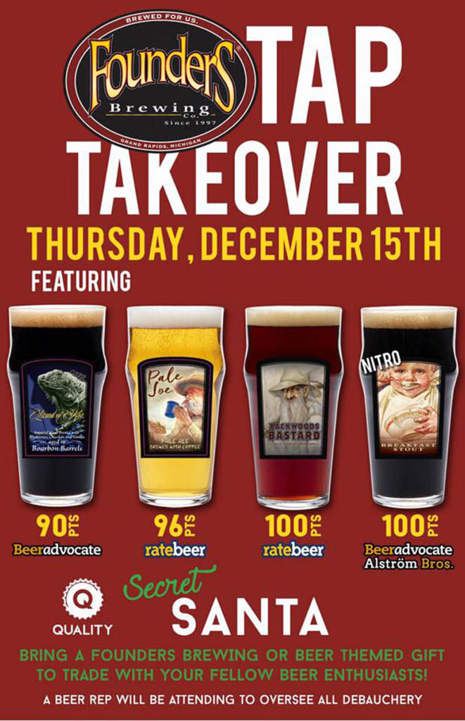 Founders Tap Takeover event