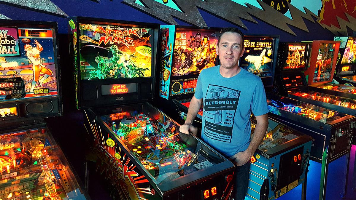 Retrovolt Arcade owner, Bob Elson
