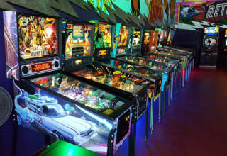 The main pinball row