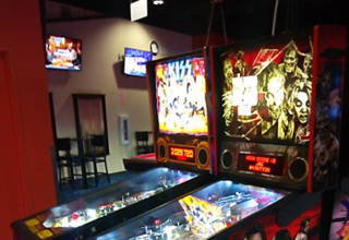 Pinballs at Round One in Moreno Valley