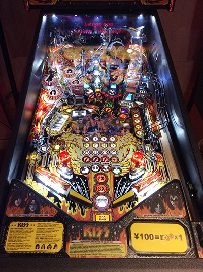 The new game's playfield
