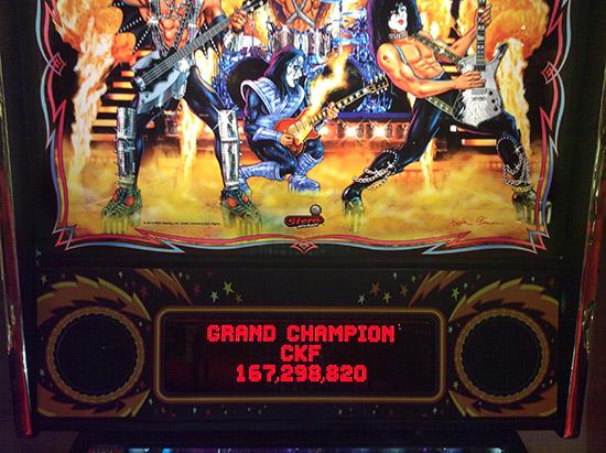 The first Grand Champion score