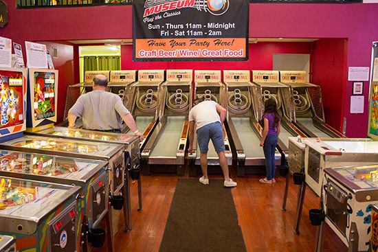 Eight skee ball games