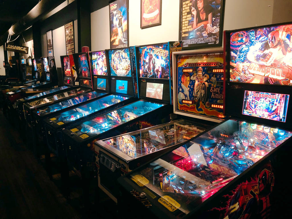 Some of the pinballs at Harrogate's