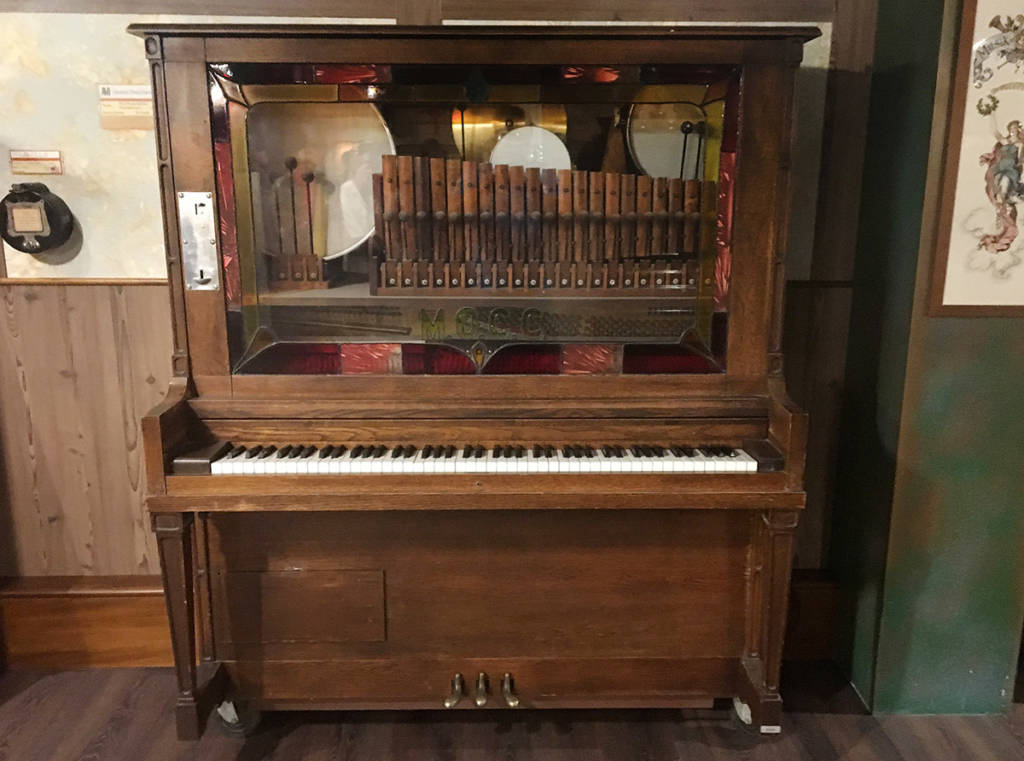 A coin-operated orchestrion