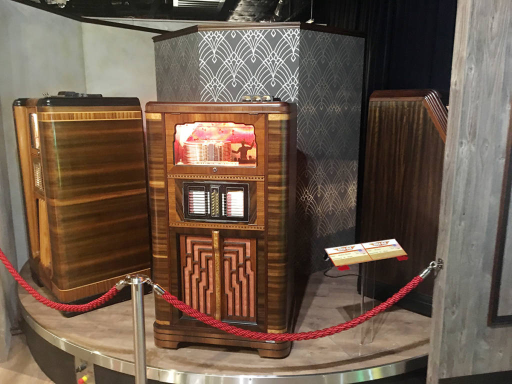 Early jukeboxes were built like pieces of furniture
