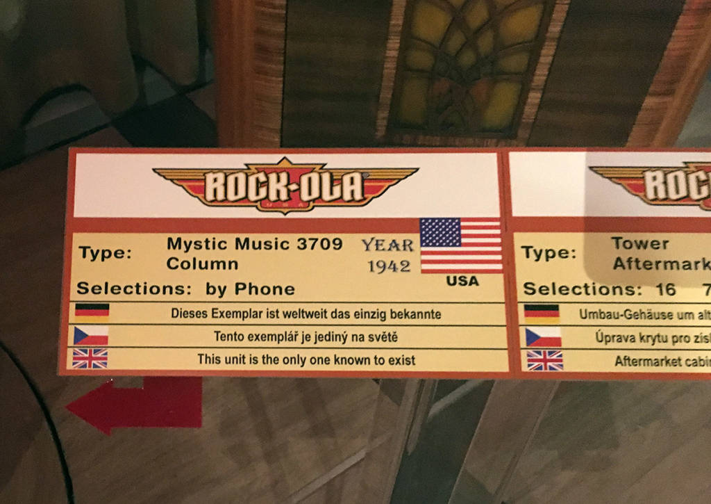 A unique Rock Ola exhibit?