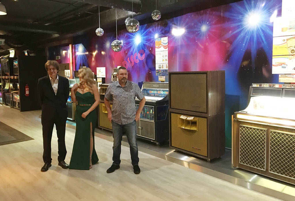 Huge jukebox speakers are introduced to help attract customers