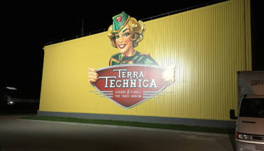 The Terra Technica building at night