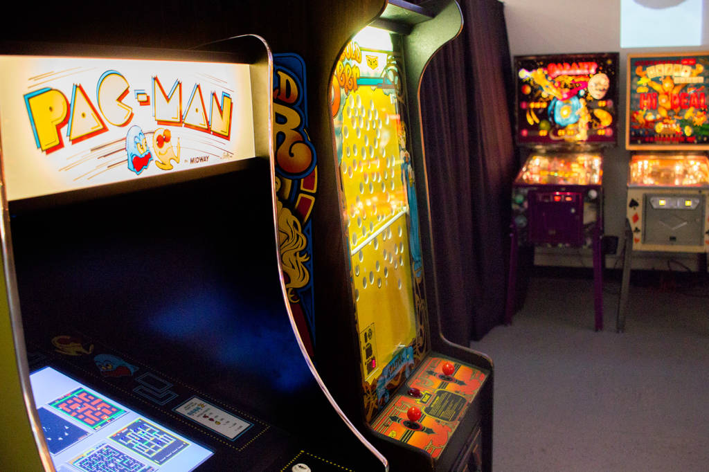 There is a Pac-Man video and an Ice Cold Beer skill game to play too