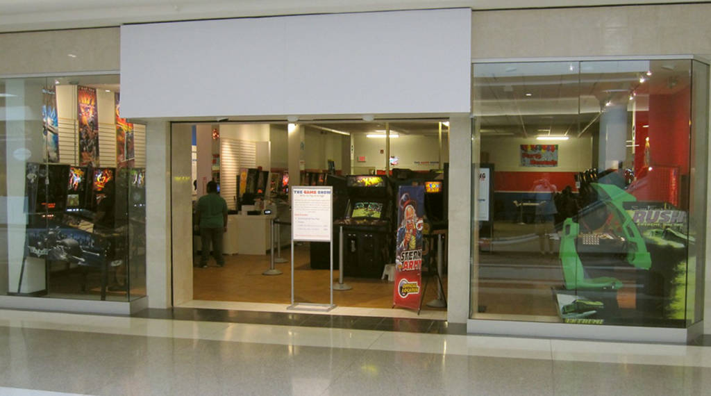 The entrance to just-opened The Game Show arcade
