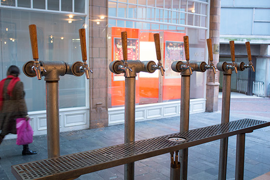 The eight beer taps