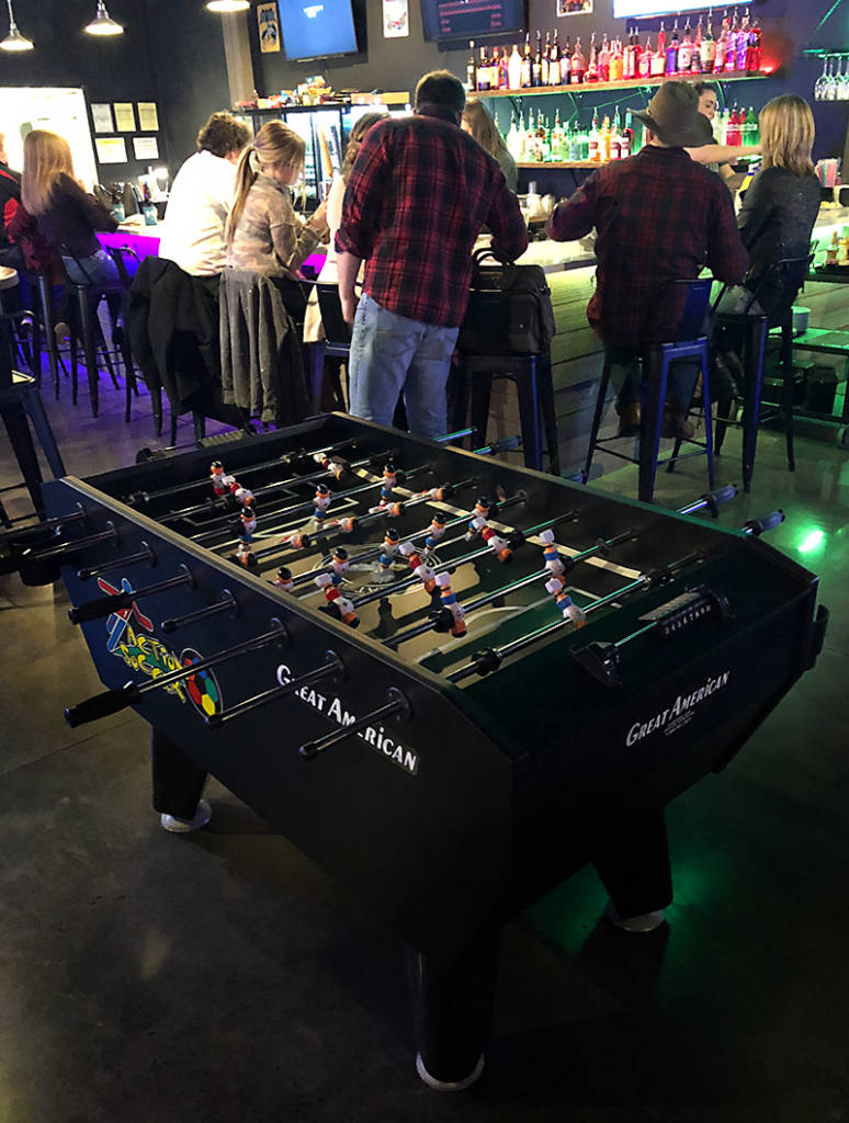Play games at the bar or this Action Soccer from Great American